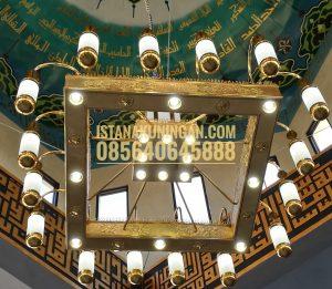lampu masjid tembaga kuningan