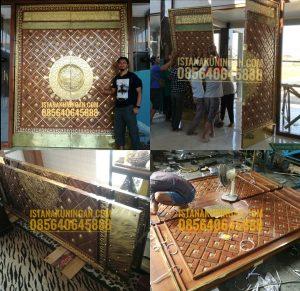 pintu masjid tembaga kuningan
