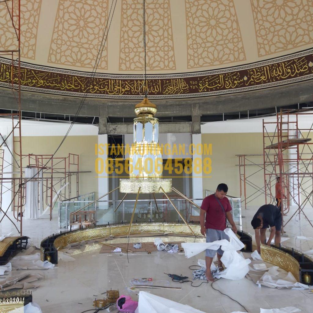lampu hias masjid tembaga kuningan